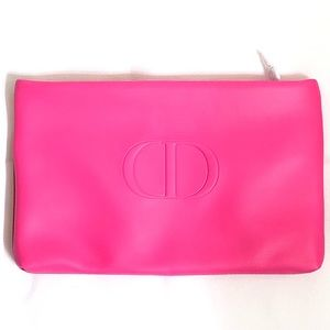 Dior VIP Pink and Red Cosmetics Clutch Bag NWT